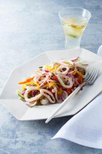 柔らかイカと野菜のマリネ マスタード風味